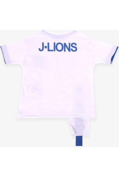 Jack Lions Erkek Çocuk Tişört Aksesuarlı Ekru (1-4 Yaş)