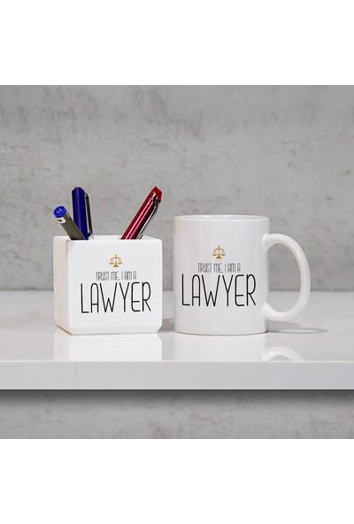 Hediyehanem Avukat Kupa Bardak ve Kalemlik