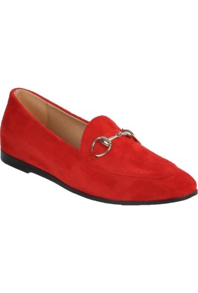 Park Fancy 155536 Kırmızı Süet Kadın Günlük Ayakkabı