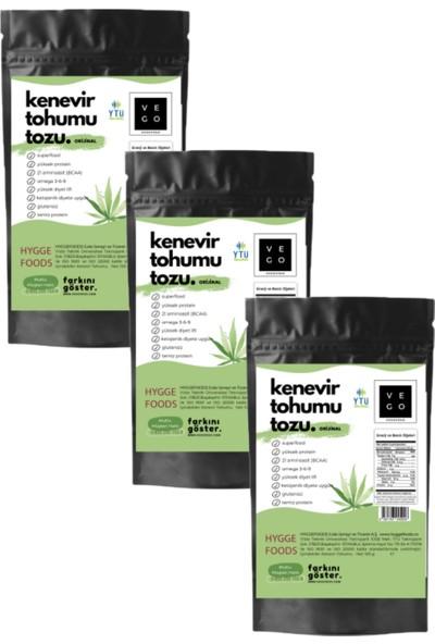Vegovego Protein 3 Adet Kenevir Tozu + Koenzim