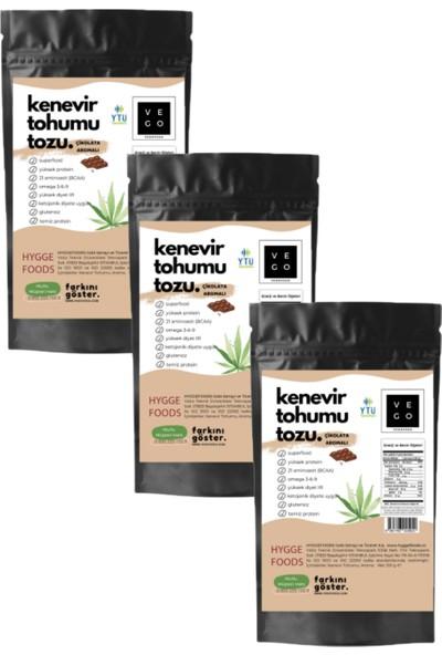 Vegovego Kenevir Kendir Tohumu Tozu - Çikolata Aromalı - 3 Adet