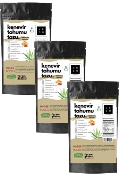 Vegovego Kenevir Kendir Tohumu Tozu - Yer Fıstığı Aromalı - 3 Adet