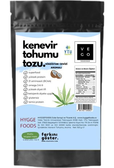 Vegovego Kenevir Kendir Tohumu Tozu - Hindistan Cevizi Aromalı 100 g