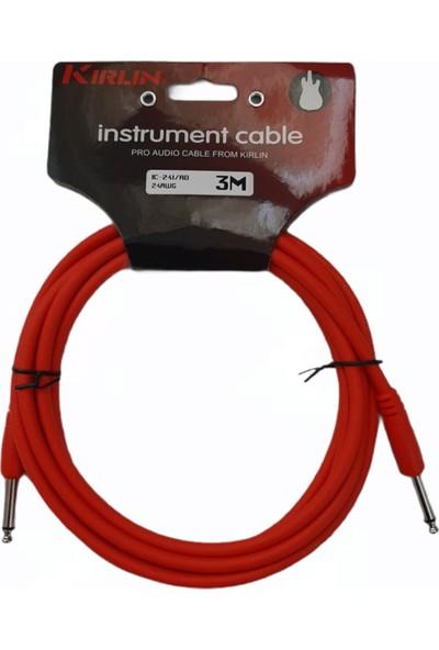 Kirlin Instrument Cable Pro Audio Cable - Enstrüman Kablosu 3 Metre Jak Kablosu