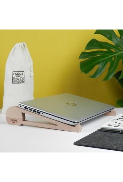 Fagus Wood Girift Laptop Standı