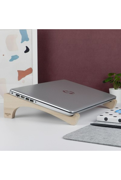 Fagus Wood Luna Laptop Standı