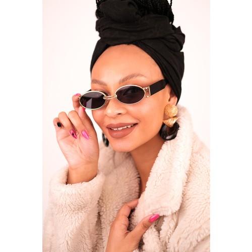 Bilge Karga BK1266 Almond Gold Black Kadın Güneş Gözlüğü