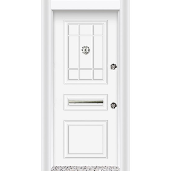 MN-1833 Pvc Rustik Çelik Kapı ( Kanca Kilitli )