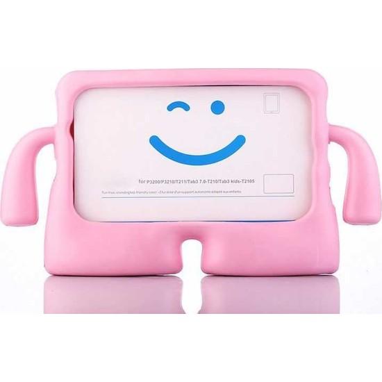Mobax Mobaxaksesuar Apple iPad Air 1 Kılıf Çocuklara Özel Silikon Kılıf A1474 A1475 A1476 Açık Pembe