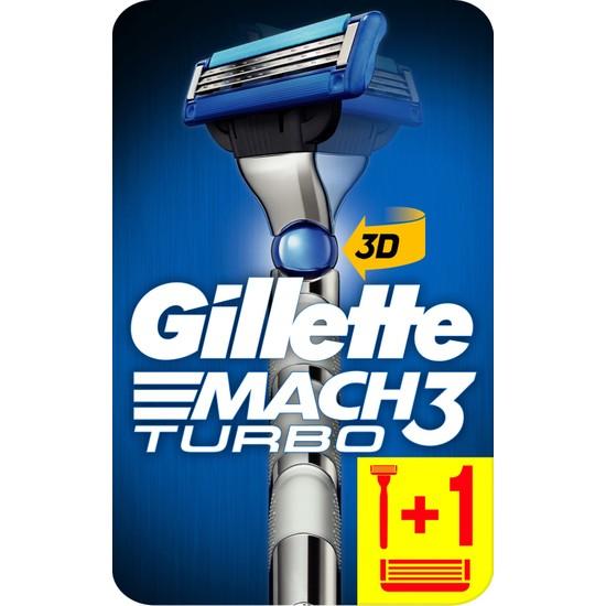 Gillette Mach3 Turbo Tıraş Makinesi + 1 Yedek Bıçak