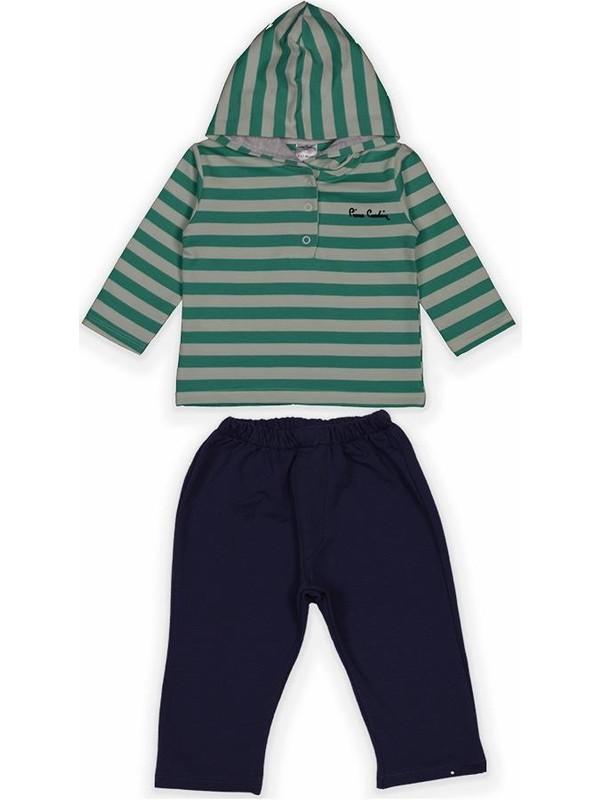 Pierre Cardin Kapşonlu Bebek Takımı %100 Pamuk 301313