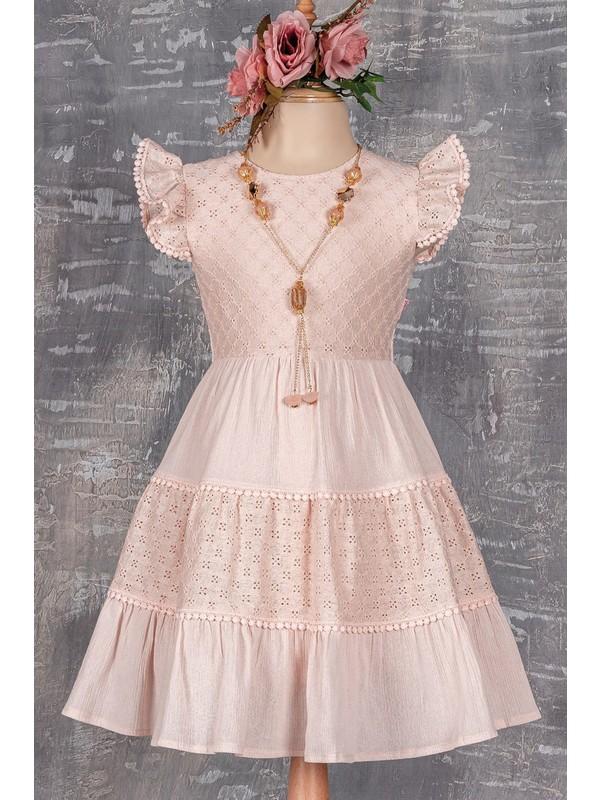Tivido Kolyeli Kız Çocuk Elbisesi