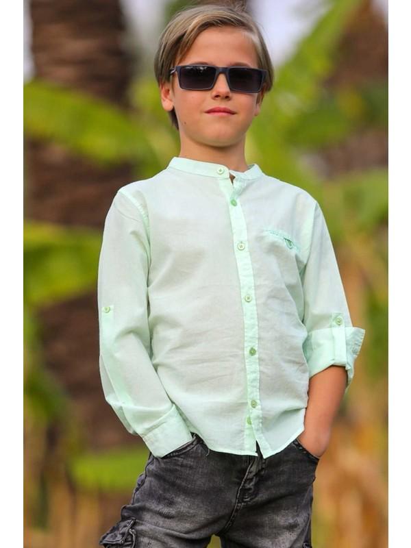 Jack Lions Erkek Çocuk Gömlek Basic Fıstık Yeşili (5-14 Yaş)