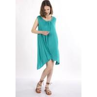 Mint.21 Yaka Boncuk Detaylı Yeşil Tunik Elbise