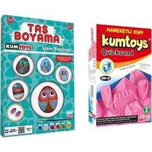 Kumtoys Taş Boyama + Kinetik Kum (2'li Set)