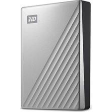 """Wd My Passport Ultra 5tb 2.5"""" USB 3.1 ve Usb-C Taşınabilir Disk Gümüş WDBPMV0050BSL-WESN"""