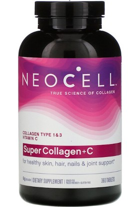 Neocell Super Collagen + C, Collagen Type 1 & 3, 360 Tablets