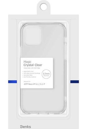 Cupcase Apple iPhone 12 Kılıf Benks magic Crystal Clear Glass Case Renksiz