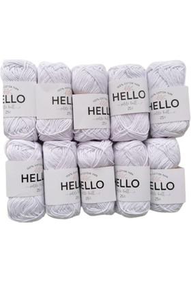 Hello Ip 10'lu (Punch, Amigurumi) 25GR Beyaz