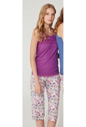 Feyza Kaprili Pijama Takım 3735 Mor