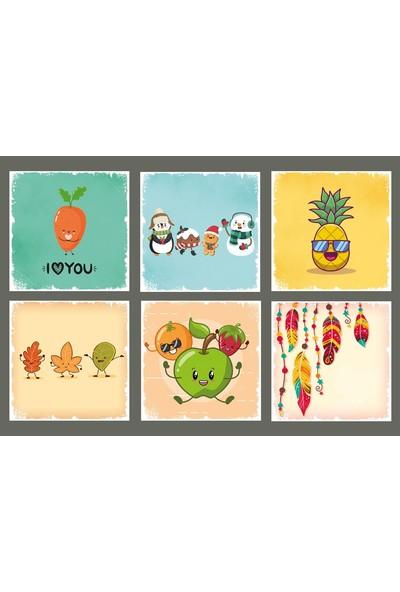 Hayal Poster Meyve Bardak Altı Set Hayal Poster