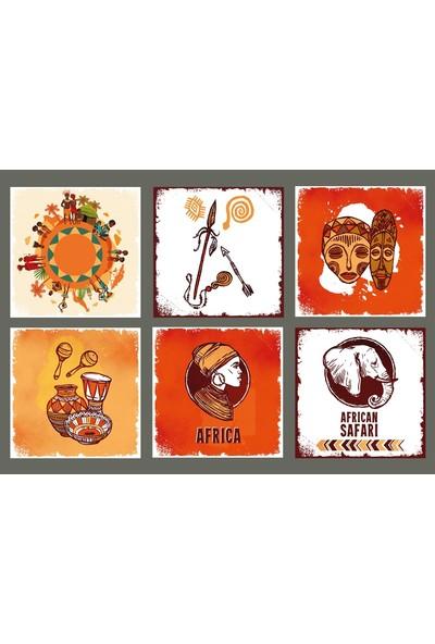 Hayal Poster Afrika Bardak Altlığı Set Hayal Poster