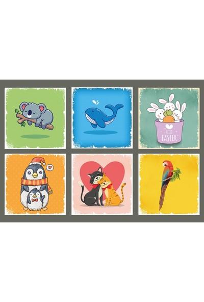 Hayal Poster Hayvanlı Bardak Altı Set Hayal Poster