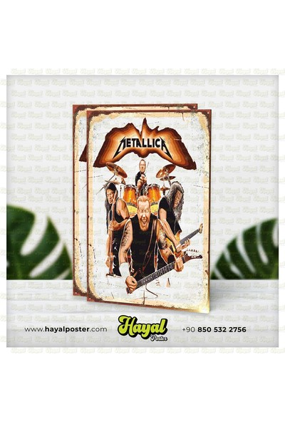Hayal Poster Metallica Retro Vintage Ahşap Poster