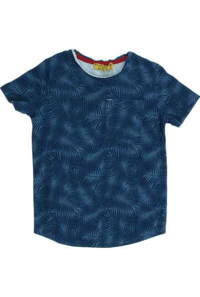 First Kids Ana Kuzusu Richie Royce Erkek Çocuk Palmiye Baskılı Tişört