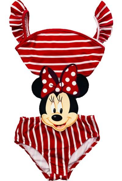 Minnie Mouse Kız Çocuk Bikini Mayokini
