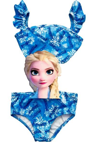 Frozen Elsa Kız Çocuk Bikini Mayokini