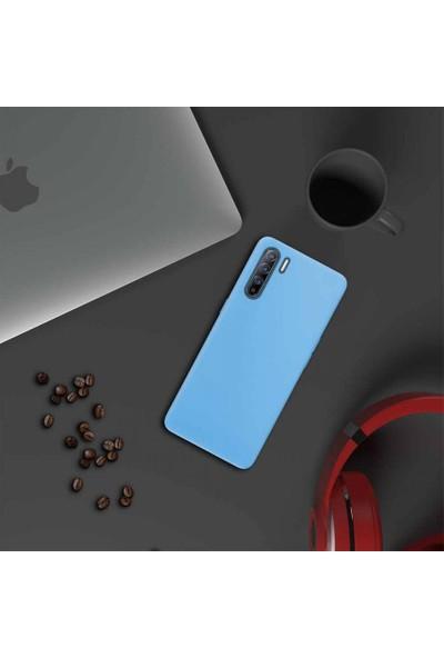i-Stone I Stone Lansman Pastel Silikon Kılıf Oppo Reno 3 Mavi
