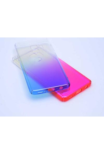 Dtech Samsung Galaxy A80 Kılıf Çift Renkli Lüx Silikon - Mor