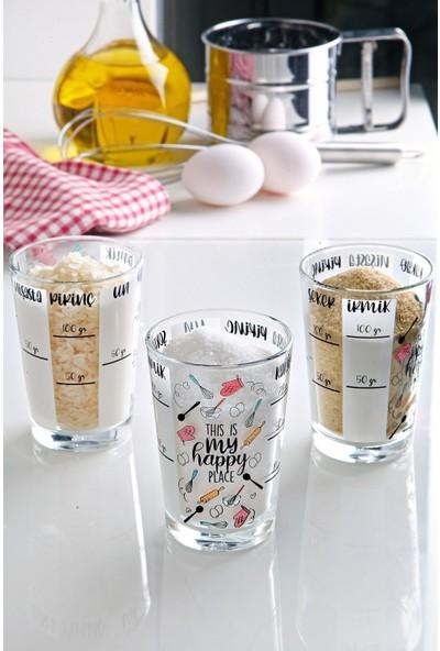 Kitchen Crazy Ölçü Bardağı 3'lü