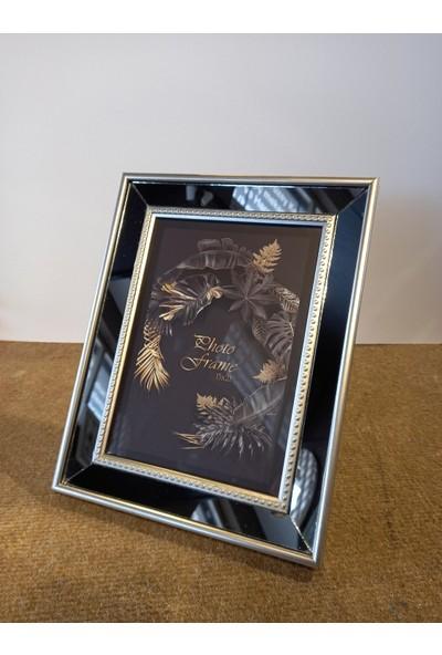 Senkron Ahşap Aynalı Çerçeve 21X27 Gümüş Gri