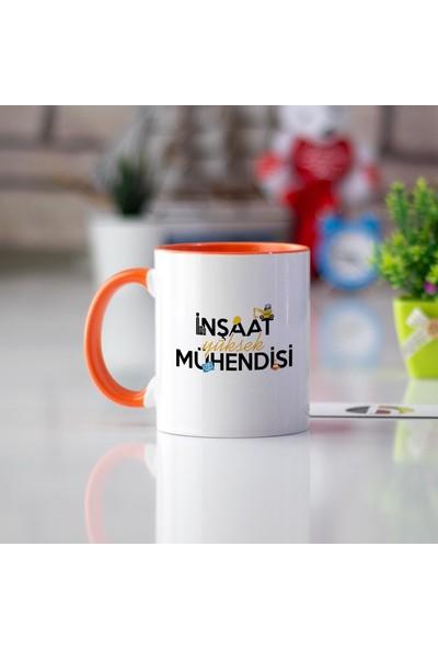 Hediyehanem Inşaat Yüksek Mühendisi Turuncu Kupa Bardak