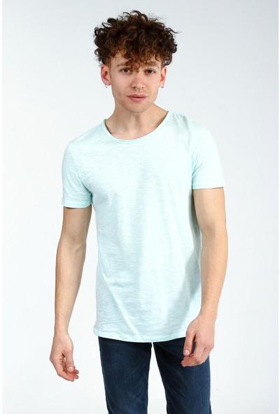 Collezione Mint Erkek Basic Bisiklet Yaka T-Shirt Kısa Kol