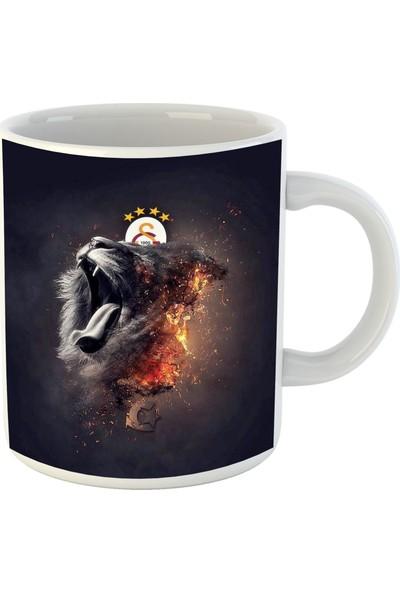 Keyfihediye Galatasaray Aslan Logolu Özel Tasarım Baskılı Kupa Bardak