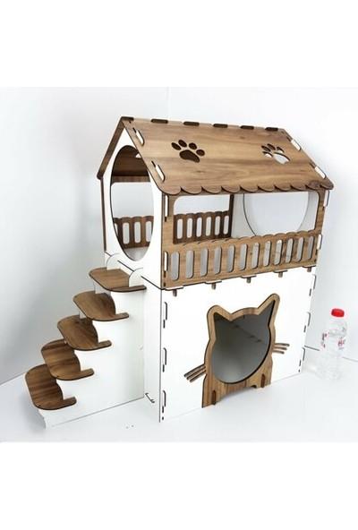 Oyuncakavm Teras Katlı Kedi Evi