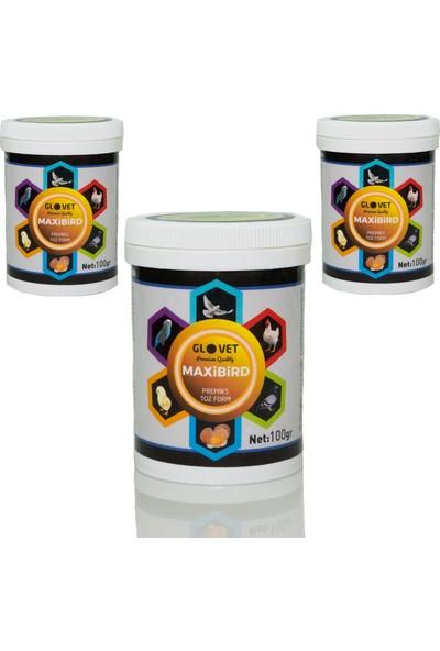 Glovet Maxibird 100 gr 3 Adet Premiks Vitamin Mineral Civciv Güvercin Posta Şebap Taklacı Süs Güvercini Mavi Yumurta