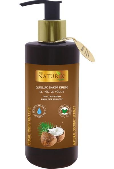 Naturix Günlük Bakım Kremi Doğal Hindistan Cevizi 250 ml