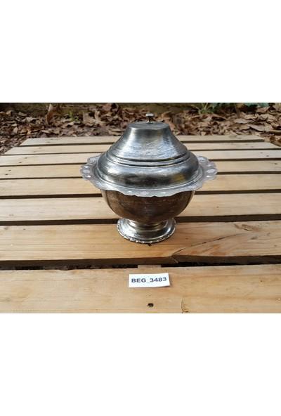 Begüldan Eski Bakır Kapaklı Çorba Tası Çap 21 cm BEG_3483