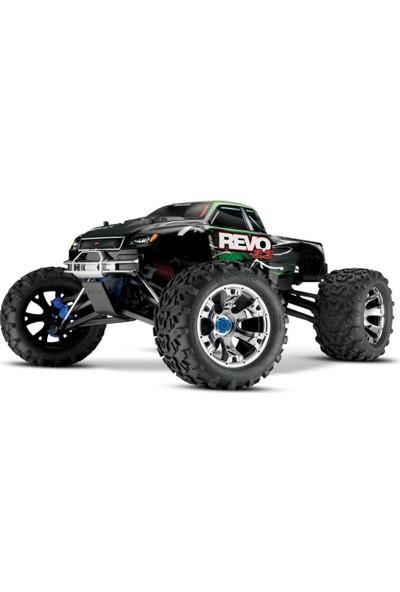 Traxxas Revo 3.3 4x4 Rtr 4WD 1/10 Monster Truck Tqi & Tsm Nitro Yakıtlı Rc Arazi Model Araba Mavi