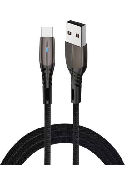 Mimo Wicker Örgülü Hızlı Şarj ve Veri Aktarım Kablosu (Type-C) Siyah 1 M