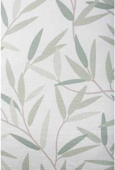 Gastrot Lara Yeşil Defne Yaprağı Desenli Kırlent Yastık Kılıfı