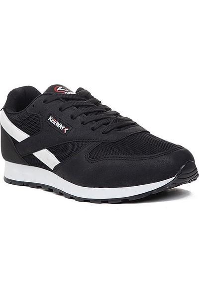 Keeway Siyah Beyaz Spor Ayakkabı