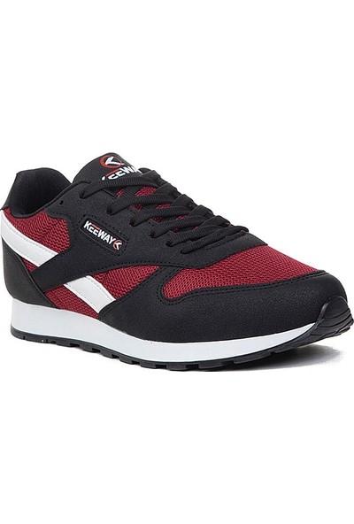 Keeway Siyah Bordo Spor Ayakkabı