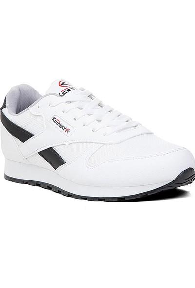 Keeway Beyaz Siyah Spor Ayakkabı