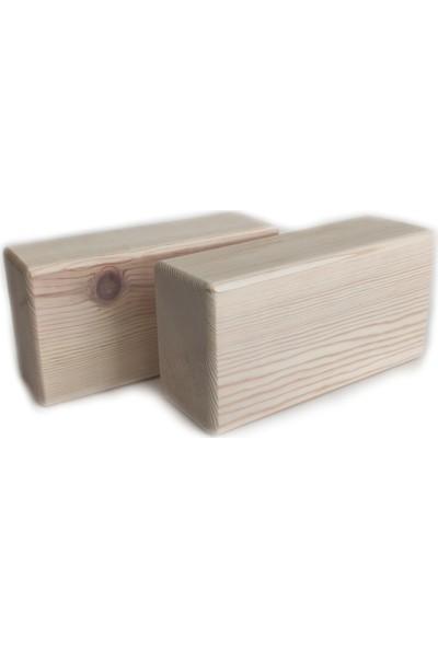 Uldemart Ahşap Yoga Bloğu Set 2li Yoga Blok