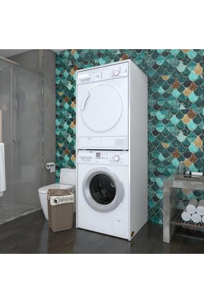 Kenzlife Çamaşır-Kurutma Makinesi Dolabı Zakhar Byz 180*70*60 Banyo